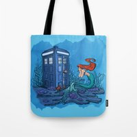 hallion Tote Bags featuring Part of Every World by Karen Hallion Illustrations