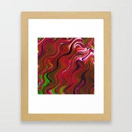 Red fluid Framed Art Print