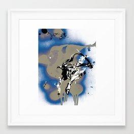 BAD MOON - SLIDE Framed Art Print