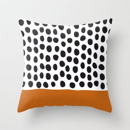 Classy Handpainted Polka Dots with Autumn Maple Throw Pillow