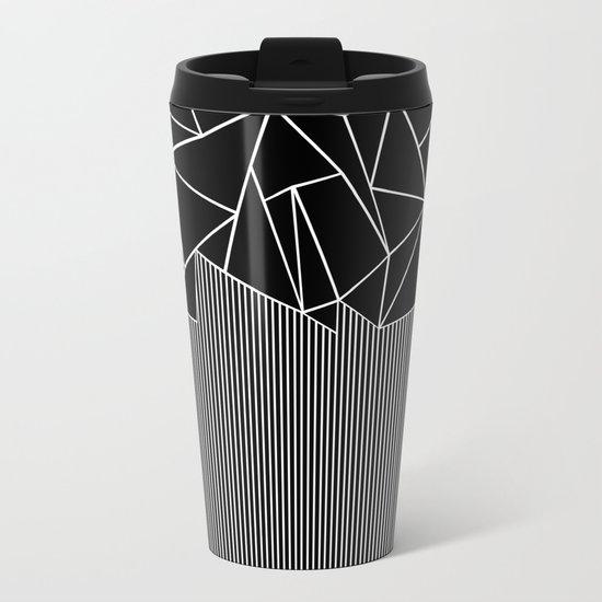 Ab Lines Black Metal Travel Mug