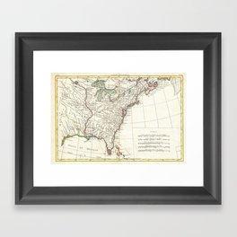 Thirteen Colonies Vintage Map (1776) Framed Art Print