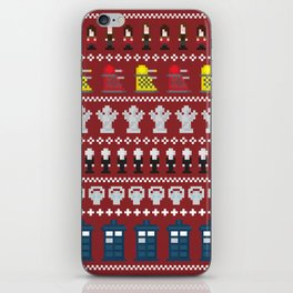 Doctor Who - Time of The Doctor - 8 bit Christmas Special iPhone Skin