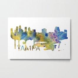 Tampa Art, Tampa Skyline, Tampa map, Tampa skyline, Tampa map print Metal Print