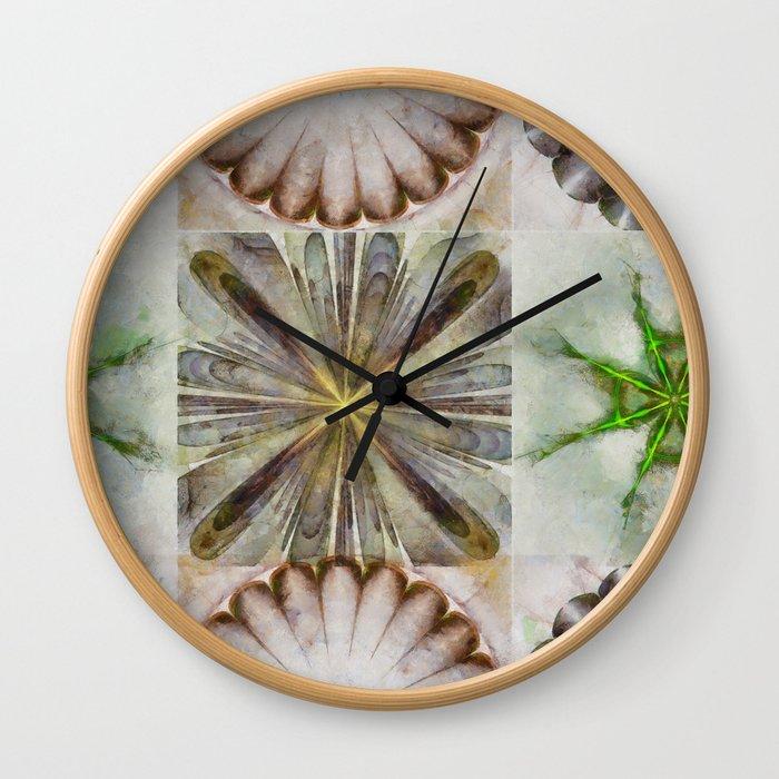 Dentalium Speculation Flower  ID:16165-144752-76360 Wall Clock