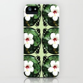 White Hibicus Flower iPhone Case