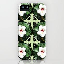White Hibicus Flower iPhone Case