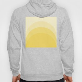 Four Shades of Yellow Curved Hoody