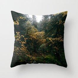 Golden Oregon Forest Throw Pillow