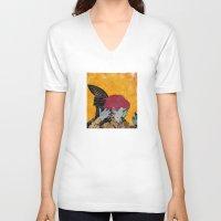 wesley bird V-neck T-shirts featuring Bird by Alvaro Tapia Hidalgo