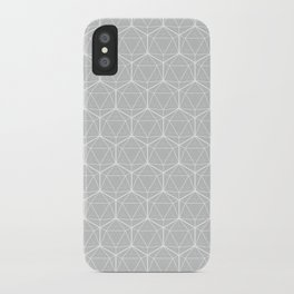 Icosahedron Soft Grey iPhone Case