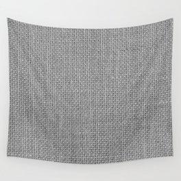 Natural Woven Silver Grey Burlap Sack Cloth Wall Tapestry