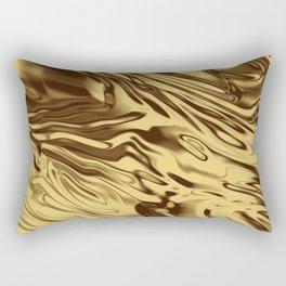 Gold Silk Rectangular Pillow