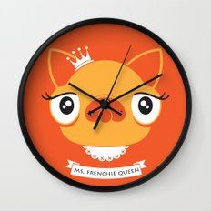 Ms. Frenchie Queen Wall Clock