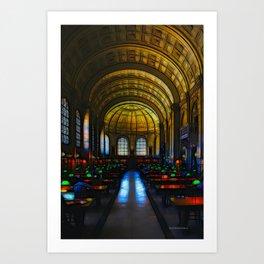 Bates Hall, Boston Public Library Art Print