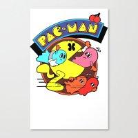 pac man Canvas Prints featuring Pac-Man by idaspark