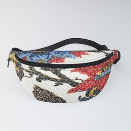 Antique Floral Vintage Pattern Design Fanny Pack