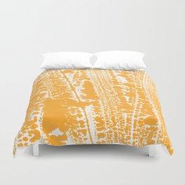 Orange creamsicle Splatter Splash Decor Duvet Cover