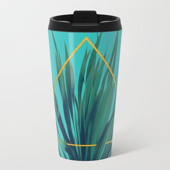 Geometric Fountain Metal Travel Mug