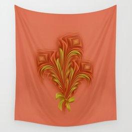 Color Meditation - Orange  Wall Tapestry