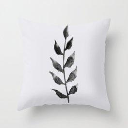 Baesic Mono Floral (Leaf 2) Throw Pillow