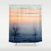 jack frost Shower Curtains featuring Frost by Jozi