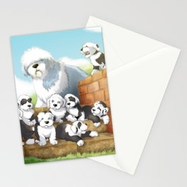 oes puppies Stationery Cards