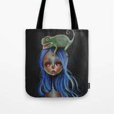 Little Chameleon Head Tote Bag