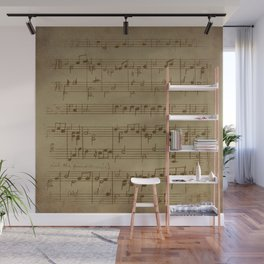 Vintage Music Sheet (Monochrome) Wall Mural