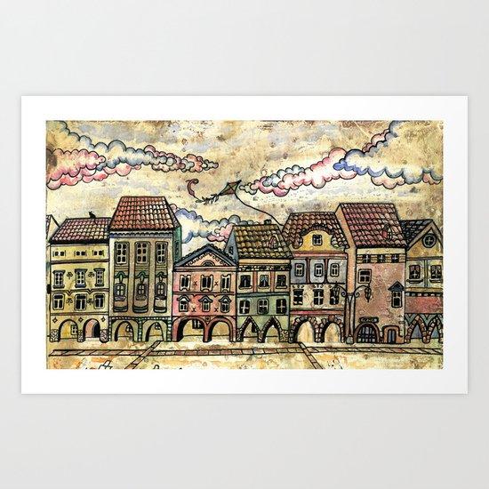 """Danish houses"" Art Print"