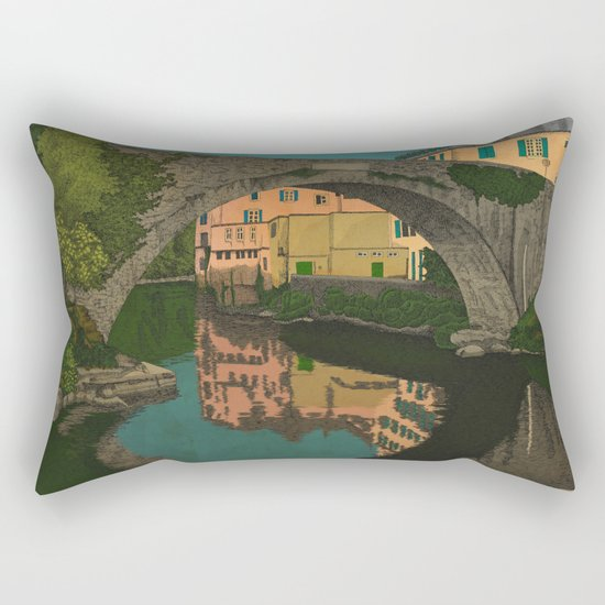 The River Rectangular Pillow