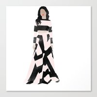 dress Canvas Prints featuring Dress by Maryam Toorani