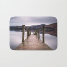 Lake View with Wooden Pier Bath Mat