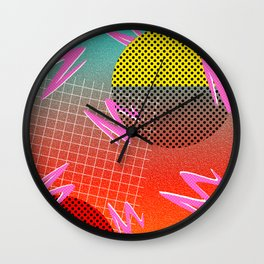 Memphis Style Inspired Pattern Wall Clock