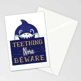 Nora - Funny Kids Shark - Personalized Gift Idea - Bambini Stationery Cards
