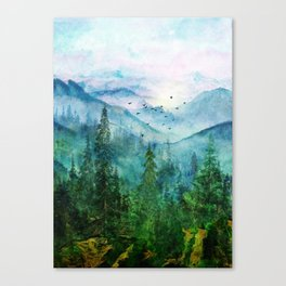Spring Mountainscape Canvas Print