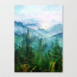 Spring Mountainscape Canvas Print