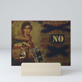 No Bullfighting Mini Art Print