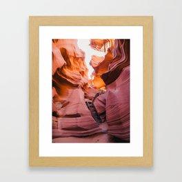 Lower Antelope Canyon, Arizona. Framed Art Print