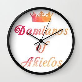 The King's Son Lives Wall Clock
