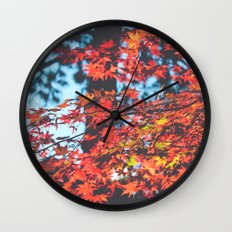 Lake Tahoe Leaves Wall Clock