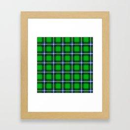 Scottish Tartan Blue and Green Framed Art Print
