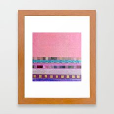 Square Dance Pink Framed Art Print