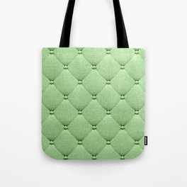 Pastel green luxury upholstery pattern Tote Bag
