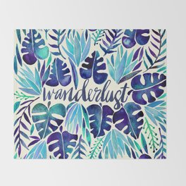 Tropical Wanderlust – Blue Throw Blanket