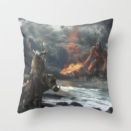 The Swarthy One Throw Pillow