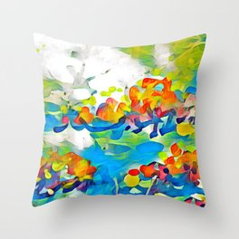 Splashes Of Color Rio de Janeiro by CheyAnne Sexton Throw Pillow
