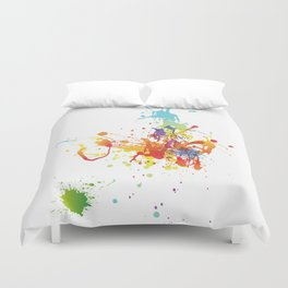 Abstract Summer Pattern Duvet Cover