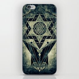 Sacred Geometry for your daily life- SRI YANTRA iPhone Skin