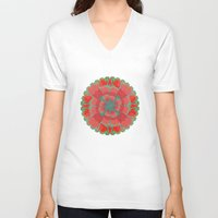 poppies V-neck T-shirts featuring Poppies by Imagology